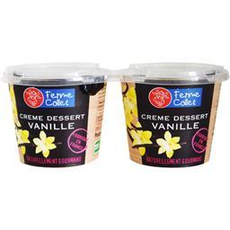 Crème dessert Vanille 2x110g FERME COLLET