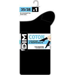Mi-chaussettes coton noir 39/42