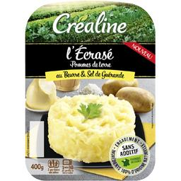 Créaline Créaline L'Ecrasé pommes de terre au beurre d'Isigny sel de Guérande les 2 barquettes - 400 g