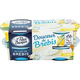 Le Petit Basque Le Petit Basque Douceur de brebis - Spécialité laitière citron les 4 pots de 100 g