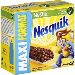 Nestlé Nestlé Céréales Nesquik - Barre de céréales au chocolat les 12 barres de 25 g