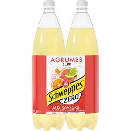 Schweppes Zero - Boisson gazeuse Agrum aux saveurs de 4 agrume...