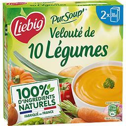 Liebig Liebig Pur'Soup - Velouté de 10 légumes les 2 briques de 30 cl