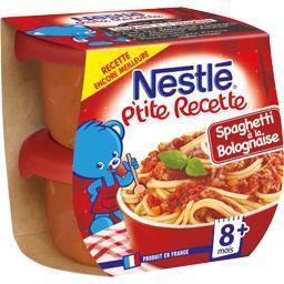 P'tite Recette - Spaghetti à la bolognaise, 8+ mois