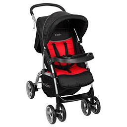 Travel system 4 roues cassiope noir rouge