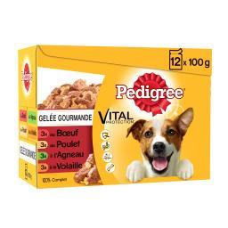 Pedigree Pedigree Gelée gourmande pour chiens adultes les 12 sachets de 100 g