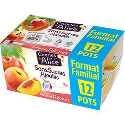 Charles & Alice Sans Sucres Ajoutés - Purée de pommes pêches