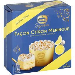 Dessert glacé façon citron meringué
