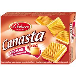 Canasta saveur fromage-jambon