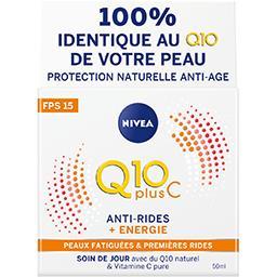 Nivea Nivea Q10plusC - Soin de jour anti-rides + Energie FPS 15 le pot de 50 ml