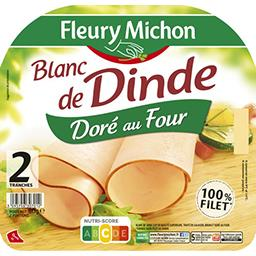 Fleury Michon Fleury Michon Blanc de dinde doré au four la barquette de 2 tranches - 80 g