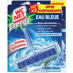 WC Net WC Net Energy - Bloc WC eau bleue Marine Fresh le lot de 2 blocs de 40 g