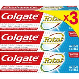 Colgate Colgate Total - Dentifrice Action Visible les 3 tubes de 75 ml