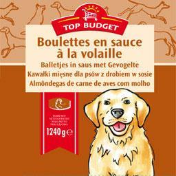 Boulettes en sauce à la volaille pour chien