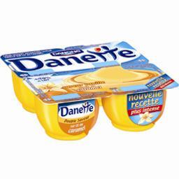 Danette - Crème dessert vanille sur lit au caramel