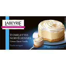 Omelettes Norvégiennes crème glacée vanille touche meringuée