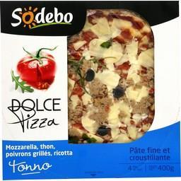 Dolce Pizza - Pizza mozzarella thon poivrons grillés ricotta