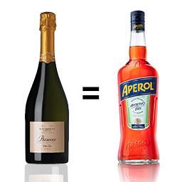 Apéritif italien 75 cl + Prosecco vin pétillant italien 75 cl