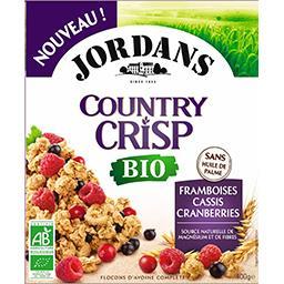 Jordans Jordans Céréales complètes bio - flocons d'avoine - framboises cassis cranberries le paquet de 400g