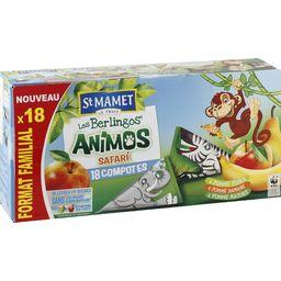 Compotes Les Berlingos' Animos safari assortiment