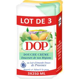 Dop Dop Douche crème au lait d'amande et à la vanille les 3 flacons de 250 ml