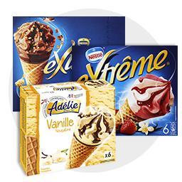Cônes Vanille - Fraise - Chocolat