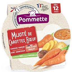 Mijoté de Carottes et Bœuf avec morceaux, dès 12 moi...