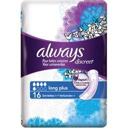 Discreet serviettes long plus pour fuites urinaires ...