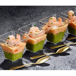 Verrines avocat & cocktail crevettes
