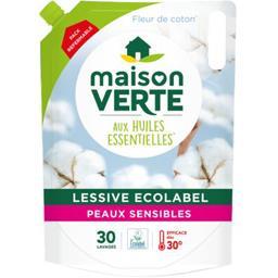 Maison Verte Maison Verte Recharge lessive liquide aux huiles essentielles la recharge de 1,8 l