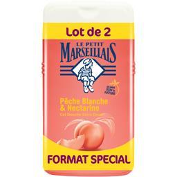 Le Petit Marseillais Le Petit Marseillais Gel douche extra doux pêche blanche & nectarine le lot de 2 flacons de 250 ml - Format spécial