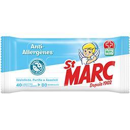 Lingettes désinfectantes anti-allergènes