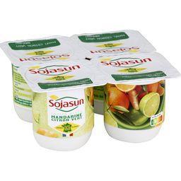 Sojasun Sojasun Fruits Mixés - Dessert végétal mandarine/citron vert les 4 pots de 100 g