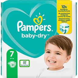 Pampers Pampers Couches baby-dry taille 7, 15kg+ Le paquet de 31 couches