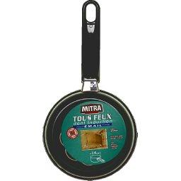 Casserole acier émaillé, tous feux compatible induction, anti-adhésif, D14cm