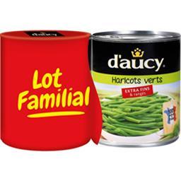 D'aucy D'aucy Haricots verts extra fins les 2 boites de 440 g net égoutté