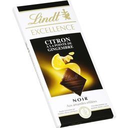Excellence Lindt Excellence - Chocolat noir aux amandes citron à la pointe de gingembre la tablette de 100 g