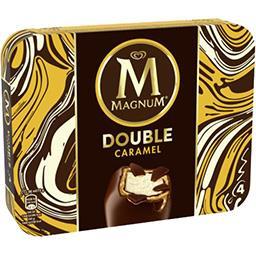 Magnum Magnum Bâtonnets de glace Double caramel la boite de 4 - 352 ml