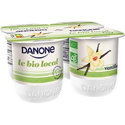 Danone Danone Le BIO Local - Yaourts vanille BIO les 4 pots de 125 g