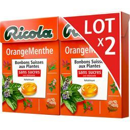 Bonbons suisses aux plantes orange menthe sans sucres