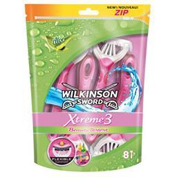 Wilkinson Wilkinson Sword Xtreme 3 - Rasoirs jetables pour femmes Beauty Sensitive le paquet de 8