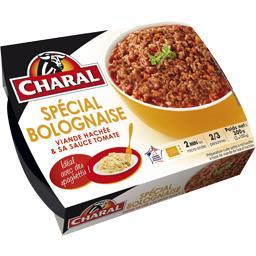 Viande hachée & sa sauce tomate spécial bolognaise