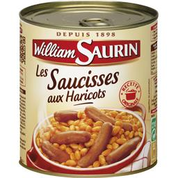 William Saurin William Saurin Les Saucisses aux Haricots la boite de 840 g