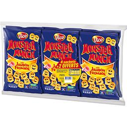 Monster Munch Vico  - Biscuits apéritif goût jambon fromag...