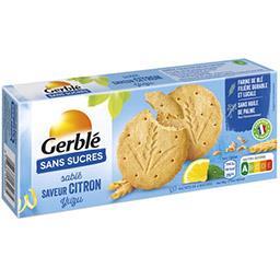 Gerblé Gerblé Sablé saveur citron yuzu sans sucres le paquet de 12 - 132 g