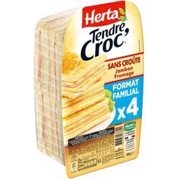 Tendre Croc' - Croque-monsieur sans croûte jambon fromage