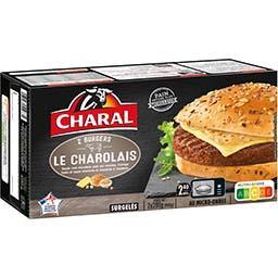 Charal Charal Burgers authentiques viande race charolaise les 2 burgers de 200 g