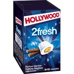 Hollywood Chewing-gum 2Fresh menthe fraîche réglisse sans sucr...