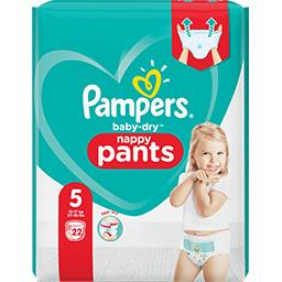 Pampers Pampers Couches-culottes baby-dry pants taille5, 12-17kg Le paquet de 22 couches