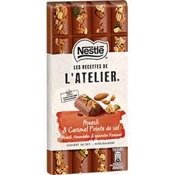 Nestlé Nestlé Grand Chocolat Les Recettes de l'Atelier - Chocolat au lait muesli caramel la tablette de 170 g